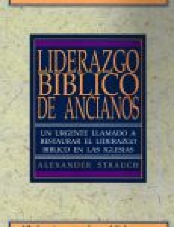 Spanish BIBLICAL ELDERSHIP STUDY GUIDE